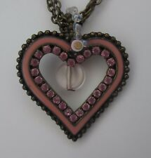 g Pink heart copper chain sparkle mary kate ashley NECKLACE fashion jewelry