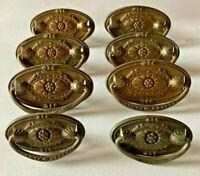Antique Vintage, Brass Dresser/Desk Pulls w/Handles, Victorian and Ornate Set/8