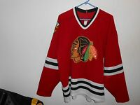 Authentic Vintage Chicago Blackhawks CCM Maska Jersey XL USA MADE