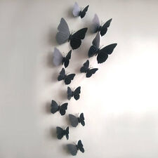 12PCS 3D Butterfly Stickers DIY ART Designer Decal Wall Sticker Room Decorations
