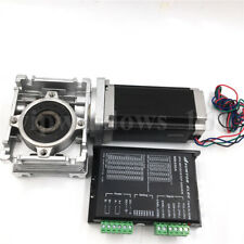 Worm Gearbox 15:1 Nema23 Stepper Motor 27Nm L76mm Speed Reducer with Driver CNC