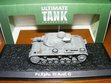 "Panzer III Ausf G ""Ultimate Tank Collection""  1/72nd 20mm diecast tank BNIB"