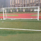 24x8ft Football Full Size Soccer Goal Post Net Straight Flat Sport 7.3x2.4m HU
