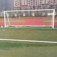 24x8ft Football Full Size Soccer Goal Post Net Straight Flat Sport 7.3x2.4m  HU