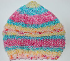 Hand-knitted Baby Hat - Pink Multicolour - Newborn