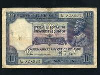 India:P-7b,10 Rupees,1917-1930 * King George V * RARE *