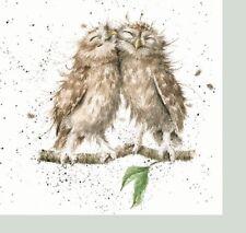 6 Vintage Cocktail Paper Napkins (25cm x 25cm) Decoupage Wrendale -  Love Owls