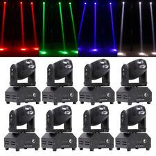 8Pcs 60W Rgbw Mini Beam Moving Head Stage Lighting Dj Disco Club Bar Party Light