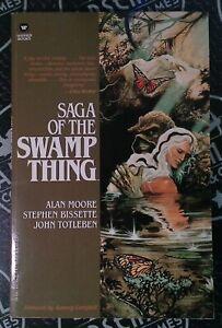 Saga of the Swamp Thing TPB 1987 1st Print Warner Books Alan Moore Graphic Novel