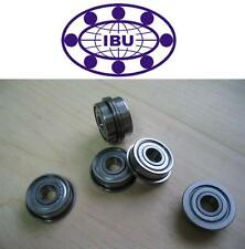10 Stk. IBU Miniatur Kugellager mit Flansch / Bundlager  MF126 ZZ  6x12x4 mm