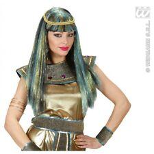 NEW AGE Cleopatra Parrucca Verde Accessorio per Antico Egitto Regina Costume