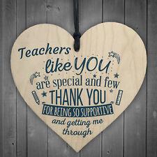 Teachers Like You Wood Heart Plaque Leaving Gift Nursery Preschool Thank You