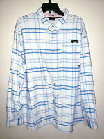 Mens Columbia PFG Long Sleeve Plaid Button Up Shirt Size 2XL XXL