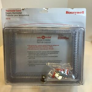 """Honeywell CG512A 1009 Locking Clear Thermostat Cover, Large, New, Sealed 7x9"""""""