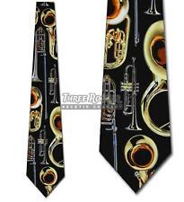 Brass Instrument Tie Music Neckties Mens Trombone Trumpet Neck Ties Brand New