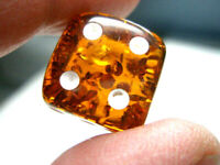 BALTIC FORMED AMBER DICE with rounded corners 15 - 16 mm