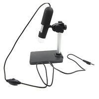 2MP USB 1000X 8 LED Digital Endoscope Microscope Magnifier Camera+Lift Stand