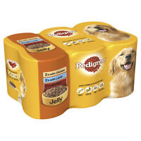 Pedigree Chunks in Jelly Wet Dog Food Cans - 6 x 400g