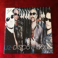 U2 DISCOTHEQUE EU cardboard CD 2 tracks Bono The Edge