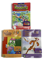 LeapFrog LeapPad Leap Pre-school-1st  ages 4-6 *Lot of 3 Booklets/Cartridges*