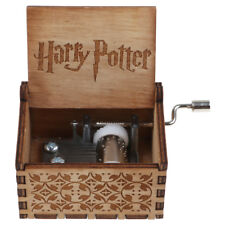 Vintage Handmade Harry Potter Music Box Engraved Wooden Music Box Xmas Toy Gift