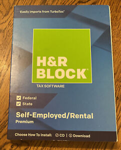 H & R Block 1536600-18 Premium 2018 Self-Employed/Rental Property Owners Tax