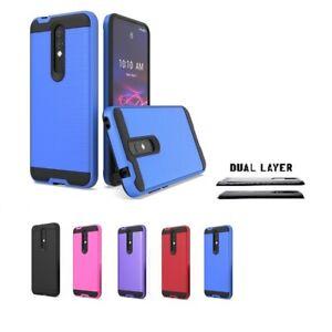 For Coolpad Legacy Brisa, Dual Layer Slim Metallic Brushed Cover Case