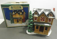 VINTAGE 1995 CHRISTMAS VALLEY DELUXE PORCELAIN COLLECTORS SERIES HOUSE BUILDING