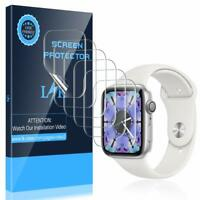 [6 Pack Screen Protector for Apple Watch 42mm Series 3 2 1 - Max Coverage Bubble