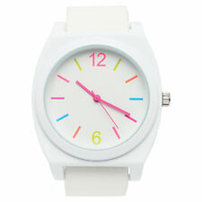 Xhilaration Womens Rubber Watch with White, Pink & Green Interchangeable Bands