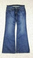 Lucky Brand Women's Lil Maggie Flare Dark Button Fly Blue Jeans Size 2/26 Ankle