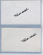 (2) PEDRO VALDES INDEX CARD SIGNED 1996-2000 CUBS RANGERS PSA/DNA CERTIFIED