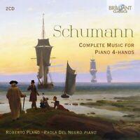 SCHUMANN:COMPLETE MUSIC FOR PIANO 4-HANDS - PLANO,ROBERTO/DEL NEGRO 2 CD NEUF