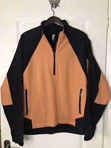 Mens Footjoy Chillout 1/4 Zip Dry Joys Jacket Top Large L Vgc
