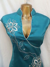 Oriental Turquoise Elegance Chinese dress 20 22