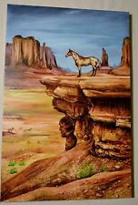 MARTIN KATON THE LOOK OUT GICLEE ON CANVAS SIGNED #91/99 W/COA SOUTH WESTERN