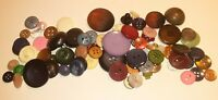 Lot of 75 Vintage Sewing Buttons Mixed Colors Celluloid, Bakelite, and Glass