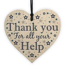 Thank You Gift For Friend Volunteer Teacher Mentor Colleague Wooden Heart Plaque