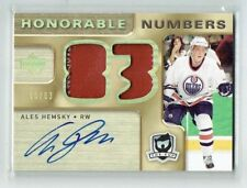 05-06 UD Upper Deck The Cup Honorable Numbers  Ales Hemsky  /83  Auto  Patches