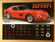 Ferrari 250 GTO Calendar TIN SIGN Wall Decor Garage