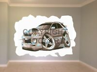 Huge Koolart Cartoon Subaru Impreza Estate Wagon Wall Sticker Poster Mural 1626