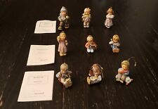 Lot Of 9 Goebel Christmas Ornaments by Berta Hummel