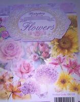 24 x A6 TOPPERS FROM HUNKYDORY - LITTLE BOOK OF FLOWERS CARD TOPPERS CARD MAKING