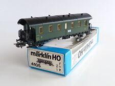 MARKLIN VOITURE VOYAGEURS 3E CL TYPE BOITE A TONNERRE DE LA SNCF REF 4105