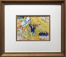 "LeRoy Neiman ""Opening Ceremony"" CUSTOM FRAMED Print 72 OLYMPICS Israeli ISRAEL"