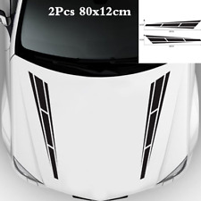 Black Graphics 2PCS Car SUV Hood Decal Vinyl Graphics Side Body Stickers Decals