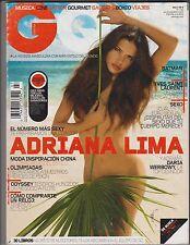 GQ España Revista Julio/Agosto 2008 , Adriana Lima