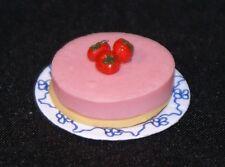 STRAWBERRY PARFAIT CAKE Dollhouse Miniature Food Sweets Dessert 1:12 Scale