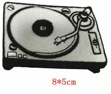 Record Player Patch Turntable Vinyl DJ Embroidered Iron Sew On Badge Rock LP