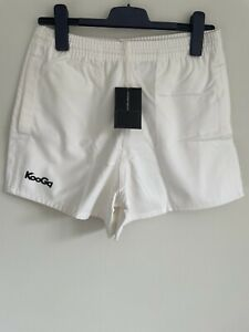 "Kooga White Rugby Training Heavy Cotton Shorts Mens Youth 30"" Waist BNWT"